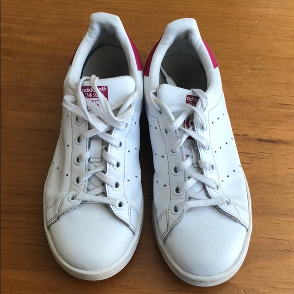 new style dc4a1 6f255 Adidas Stan Smith pink sz US4.5 fits women 6.5